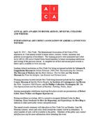 AICA Awards 2014 Press Release