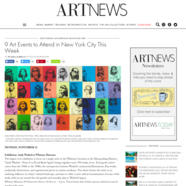 ARTnews, November 12, 2018