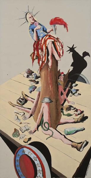 Liberty #6 (Study for Trash), 1971 oil on can...