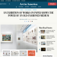 Art in America, June 10, 2020