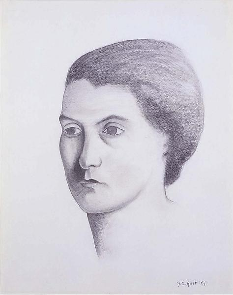 "Ossi, 1927 graphite on paper 14 1/4"" x 11 1/4..."