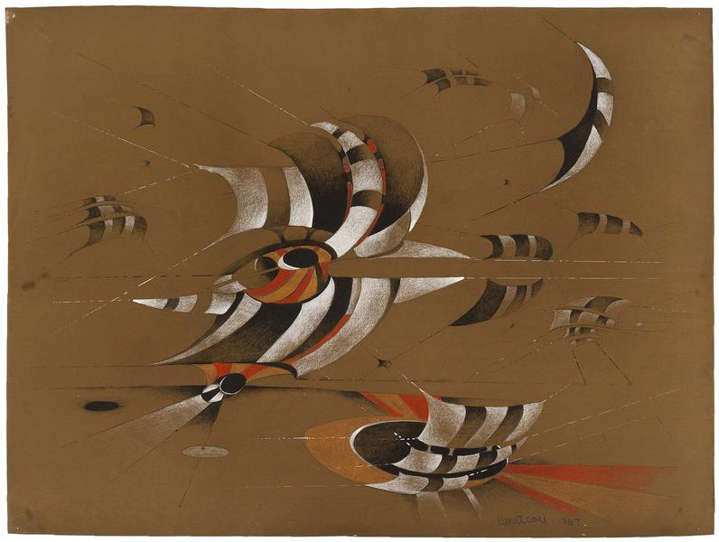Untitled, 1967 colored pencil and gouache on paper...