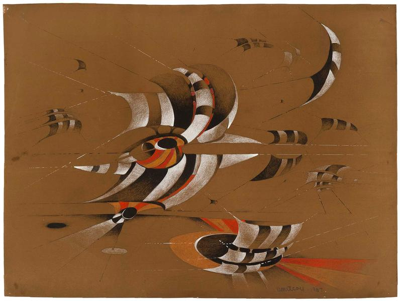 Lee Bontecou (b.1931) Untitled, 1967 colored penci...