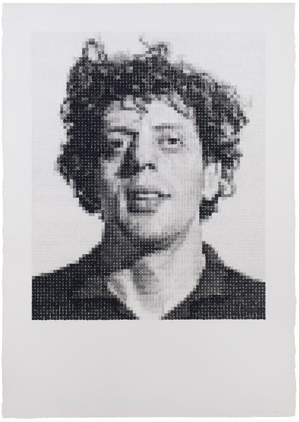 Chuck Close (b.1940) Phil/Watercolor, 1977 waterco...