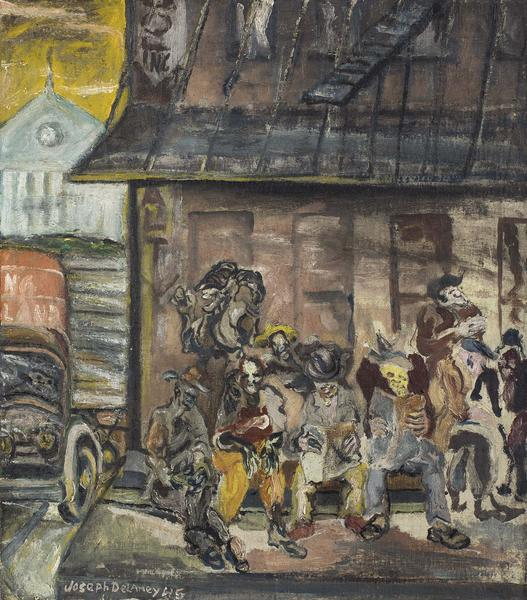 Washington Market (NYC), 1945 oil on canvas 25 1/4...