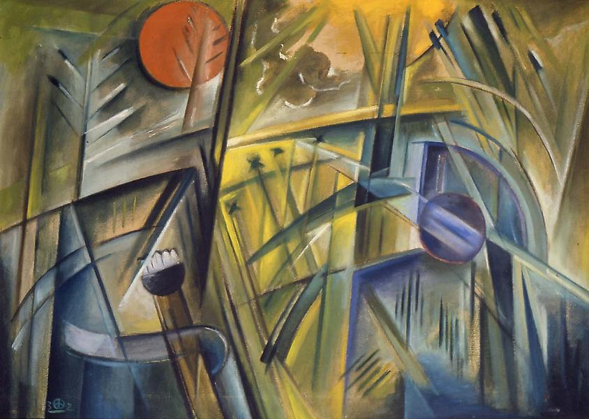 "Dream in the Grass, 1932 oil on canvas 24"" x..."