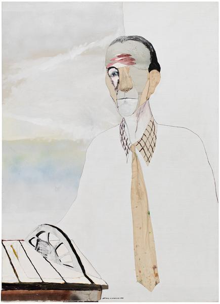 Duchamp, 1985 oil and graphite on canvas with pain...