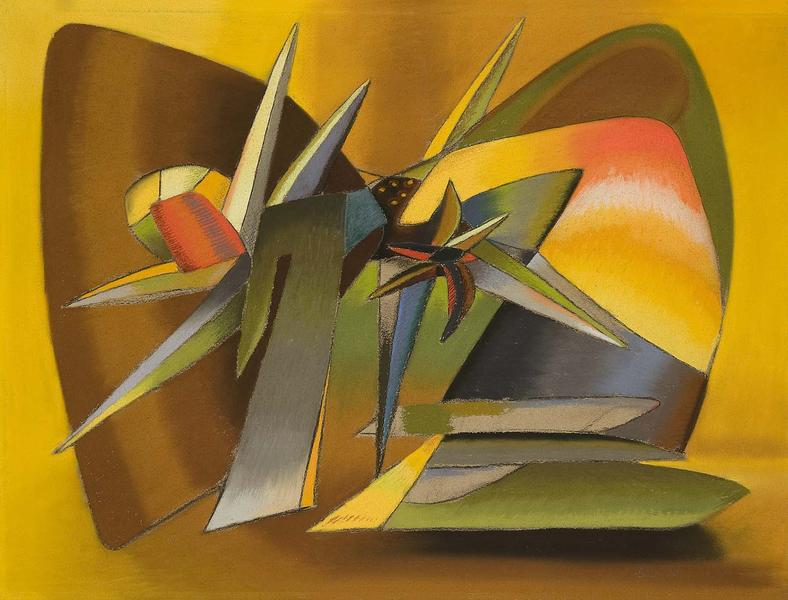 The Desert (Composition in Yellow Light), 1938 pas...