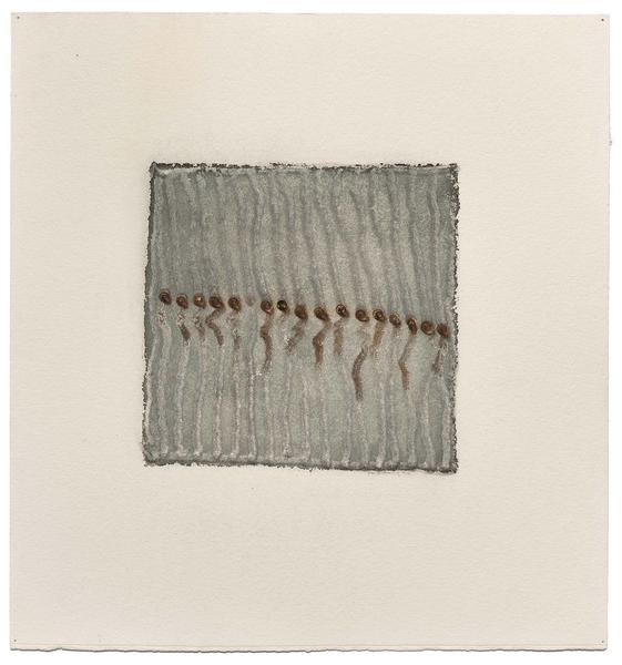 Untitled (21/74-DWG), 1974 watercolor on Dremel dr...