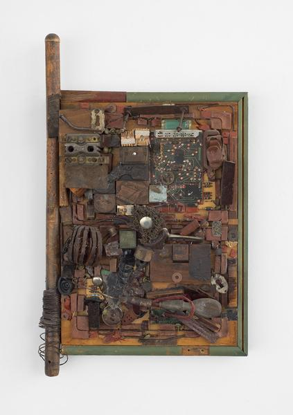 A Page, 2000 wood, metal, plastic, paint and leath...