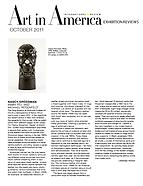 Art in America, October 2011
