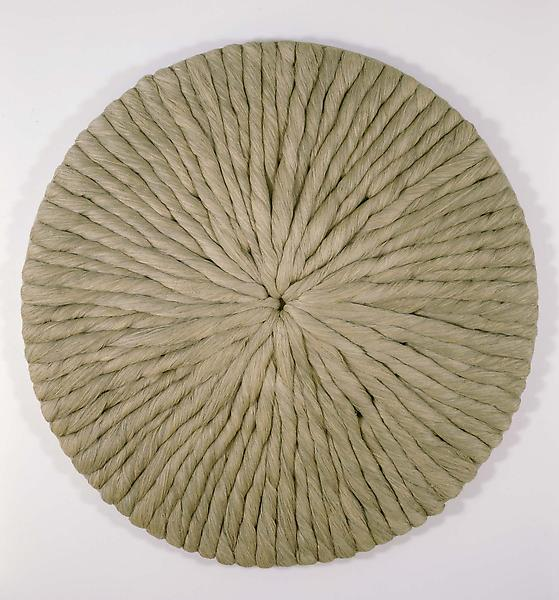 Untitled, c.1978 plaited linen threads on canvas 7...