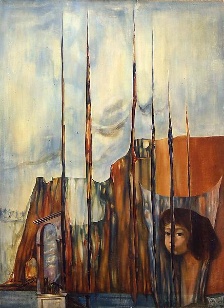 "The Lost Empire, 1946 oil on canvas 30"" x 22..."