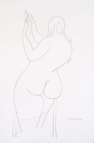 Standing Nude from Rear, c.1930 graphite on paper...