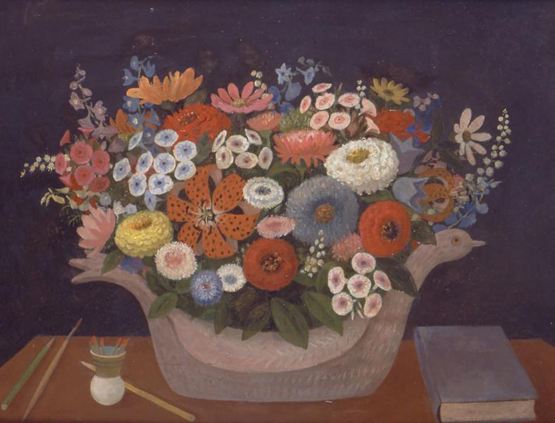 Doris Lee (1905-1983) Flowers In Duck Planter, c....