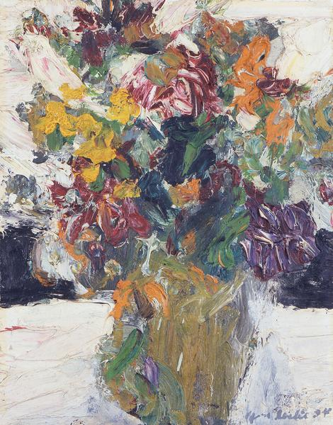 Alfred Leslie (b.1927) Vase of Flowers, 1954 oil o...