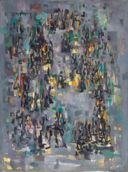 "Promenade #2, 1950 oil on canvas 39 7/8"" x 29..."