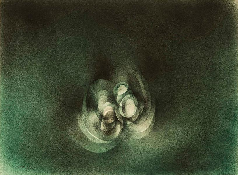 "Untitled, 1975 oil on paper 22"" x 30"" si..."