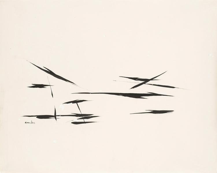 "Untitled, c.1954 ink and gouache on paper 19""..."