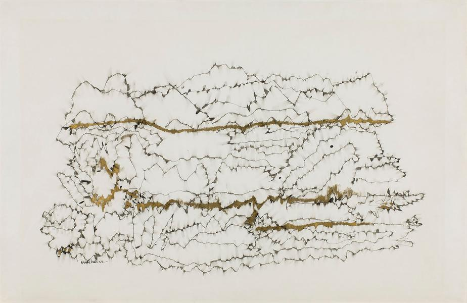 Untitled (Winter Branches), 1953 ink and gold meta...