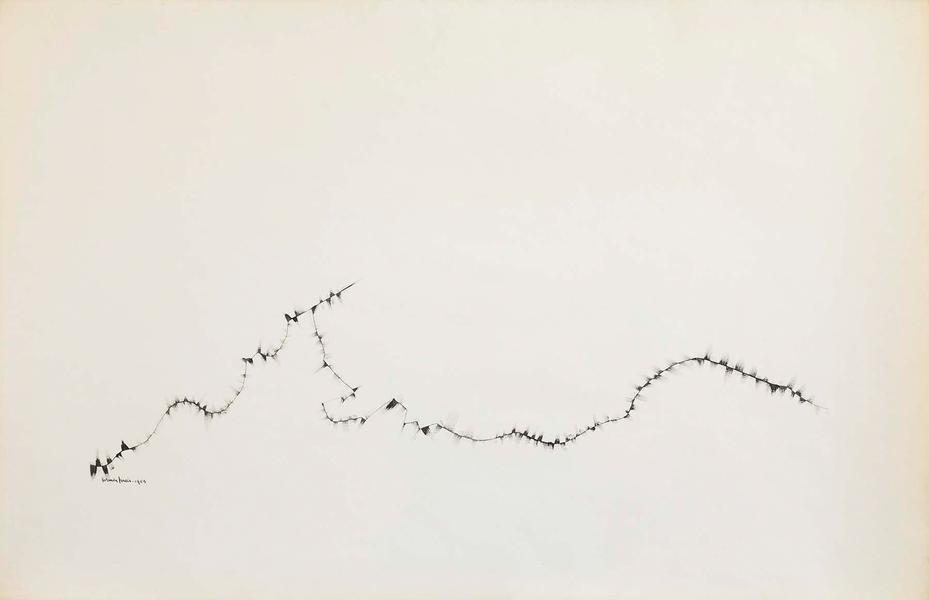 "Winter Branches #3, 1953 ink on paper 26"" x 4..."