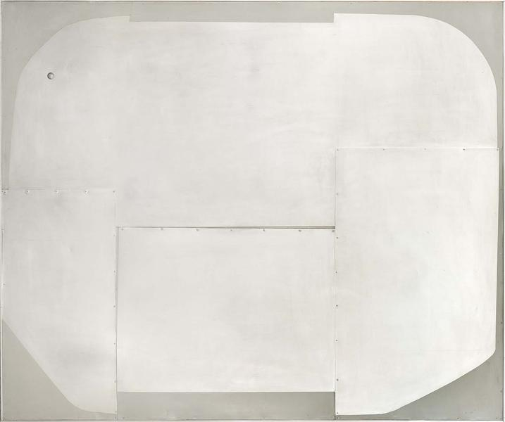L-11-63 (Pilot II), 1963 collage of various metals...