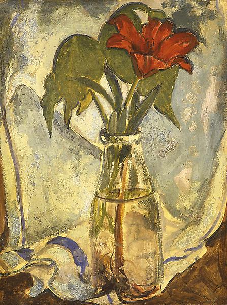 Still Life with Red Lily, c.1912 oil on canvas 19...