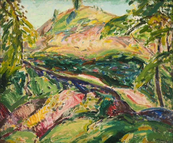 Untitled (Mountain Landscape, Marlboro), c.1914 oi...