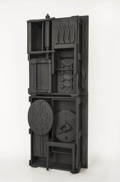 Untitled, c.1976 painted black wood construction 9...