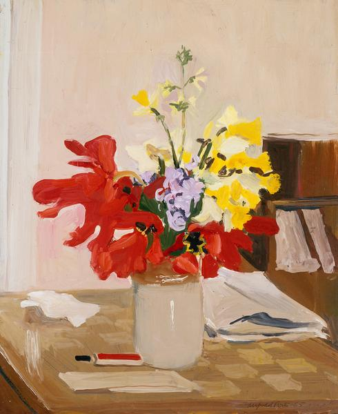 Fairfield Porter (1907-1975) Anemone and Daffodil,...