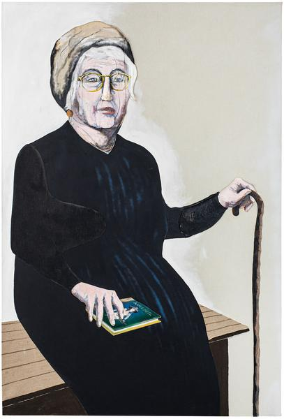 Portrait of Alice Neel, 1985 oil on canvas with pa...