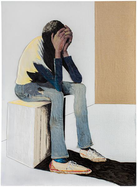 Portrait of Despair, 1985 oil and graphite on canv...
