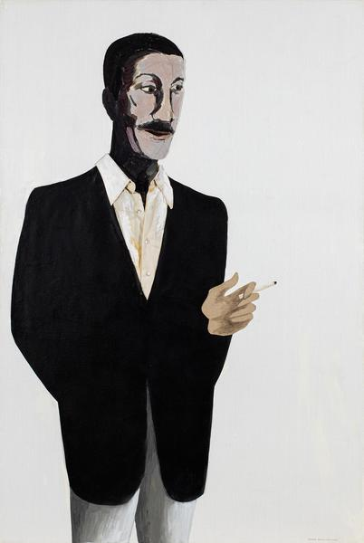 Portrait of Norman Lewis, 1985 oil on canvas with...