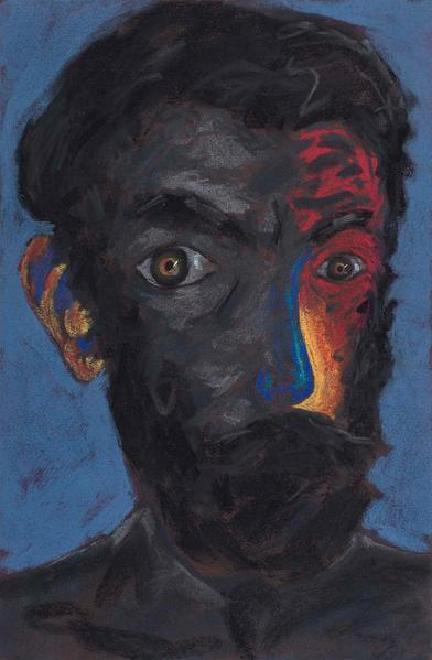 Lucas Samaras (b.1936) Head #183, 1981 pastel on b...