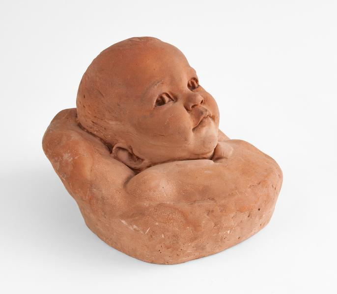 "Portrait of a Baby, 1942 terracotta 10"" x 8 1..."