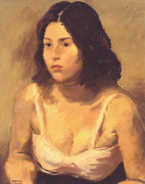 Woman In Pink Camisole, c.1938 oil on canvas 20&qu...