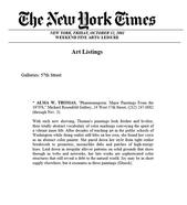The New York Times, October 12, 2001