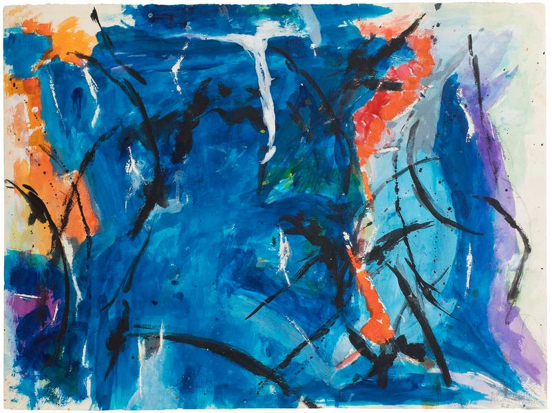 Untitled, 1962 acrylic on paper 22 3/8 x 30 inches...