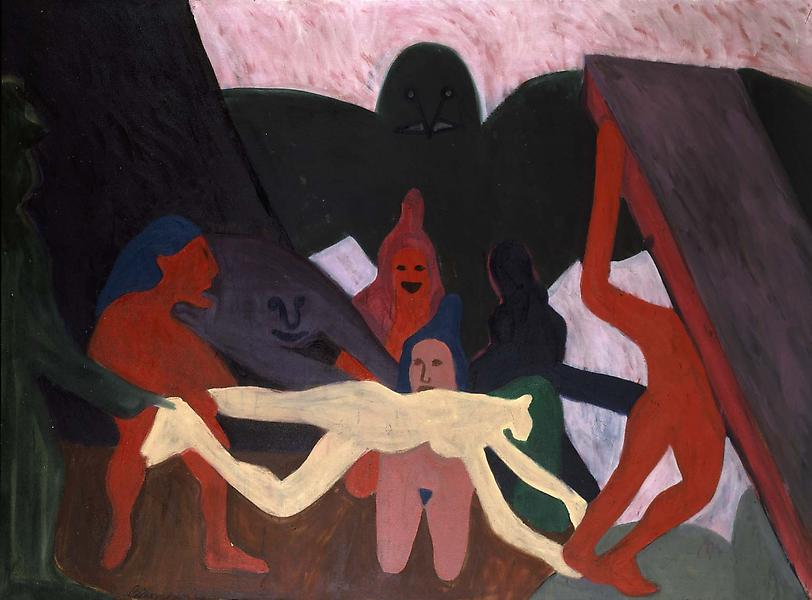 The Struggle, 1963 oil on canvas 58 x 78 inches, s...