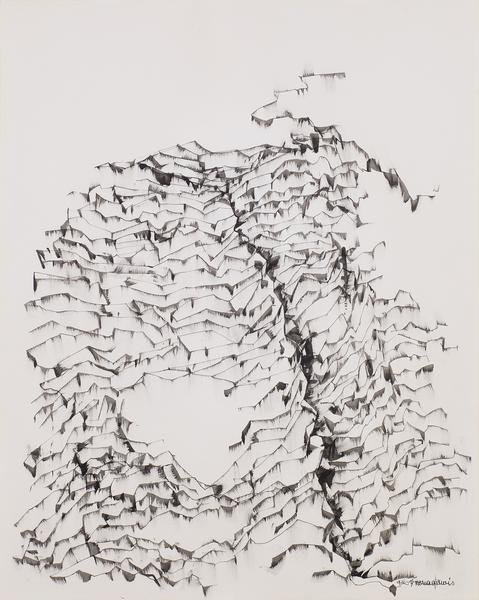 "Untitled, 1974 ink on paper 29"" x 23"" si..."