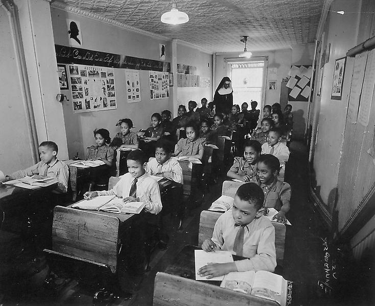 Classroom #2, St. Marks School, NYC, 1941 vintage...