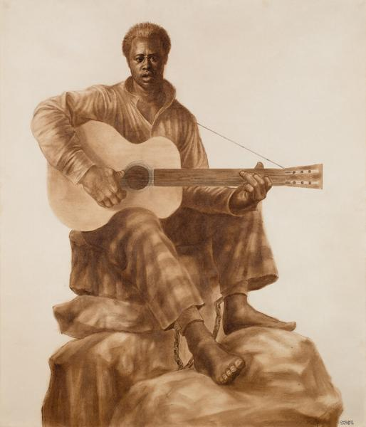Charles White (1918–1979) Leadbelly, 1975 oi...