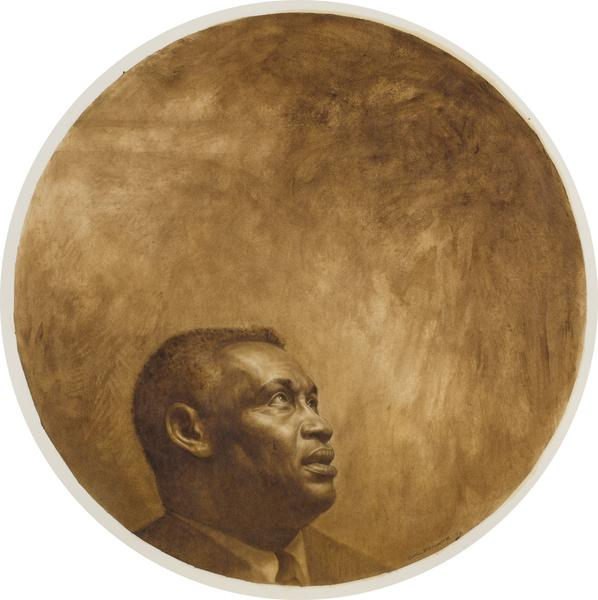 Charles White (1918-1979) Paul Robeson, 1973 oil a...