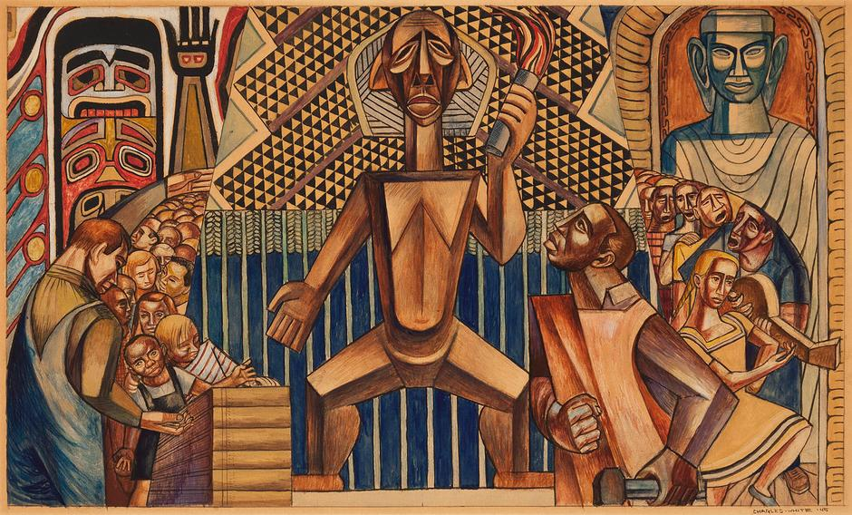 Charles White (1918-1979) Untitled, 1945 tempera a...