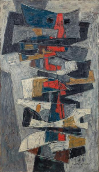 Hale Woodruff (1900–1980) Totem, c.1954 oil...