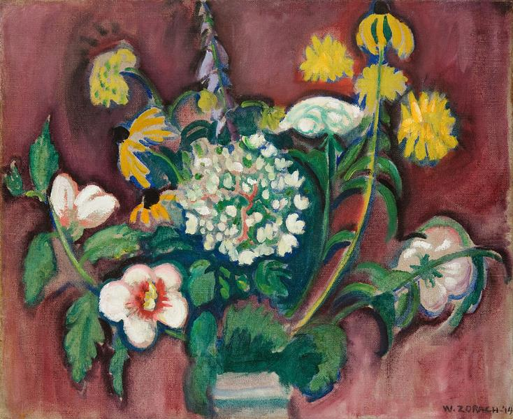 William Zorach (1887-1966) Untitled (Floral Still...